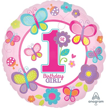 Sweet Birthday Girl Foil Balloon