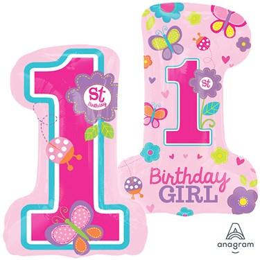 """Sweet Birthday Girl Jumbo Foil Balloon (28"""")"""