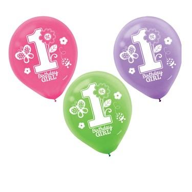 Sweet Birthday Girl Latex Balloons(15)