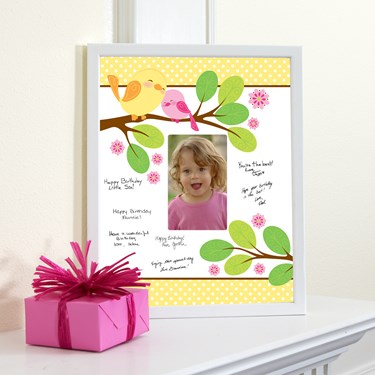 Sweet Tweet Bird Pink - Framed Signature Matte
