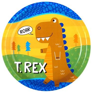 """T-Rex 9"""" Dinner Plates (8)"""