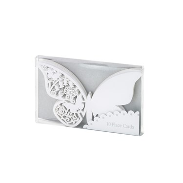 Talking Tables White Butterfly Place Cards (10)