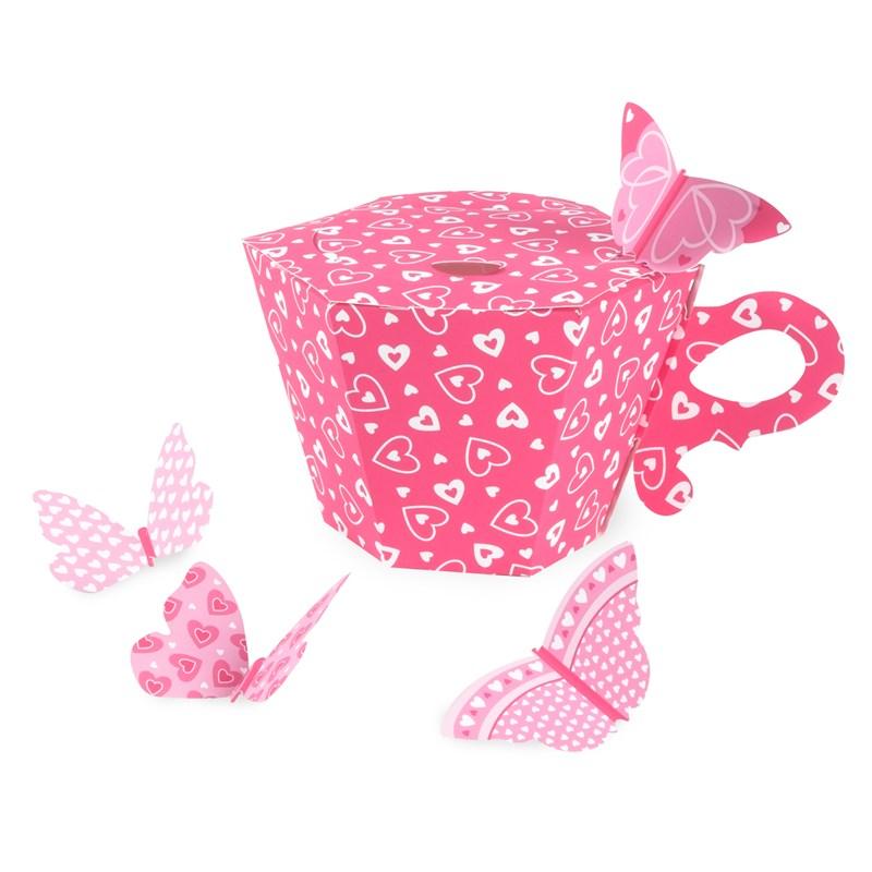 Tea cup empty favor boxes for Teacup party favors