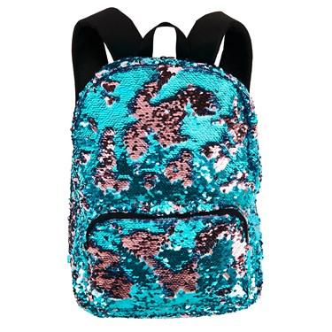 Teal & Pink Sequin Backpack