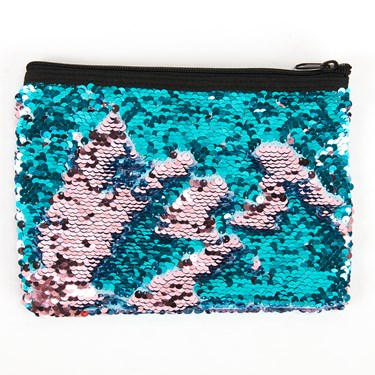 Teal & Pink Sequin Pouch