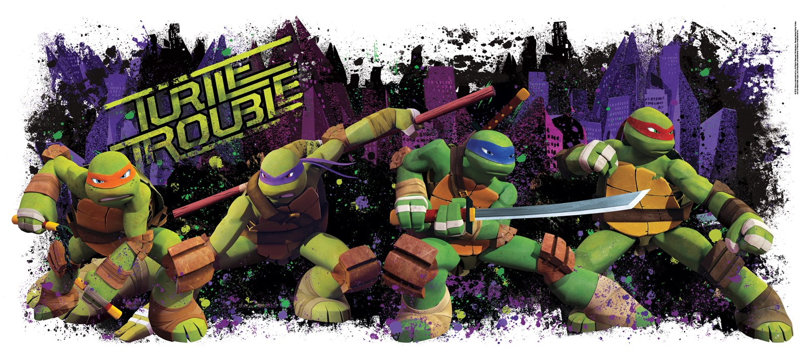 teenage mutant ninja turtles giant wall decal birthdayexpress com default image teenage mutant ninja turtles giant wall decal