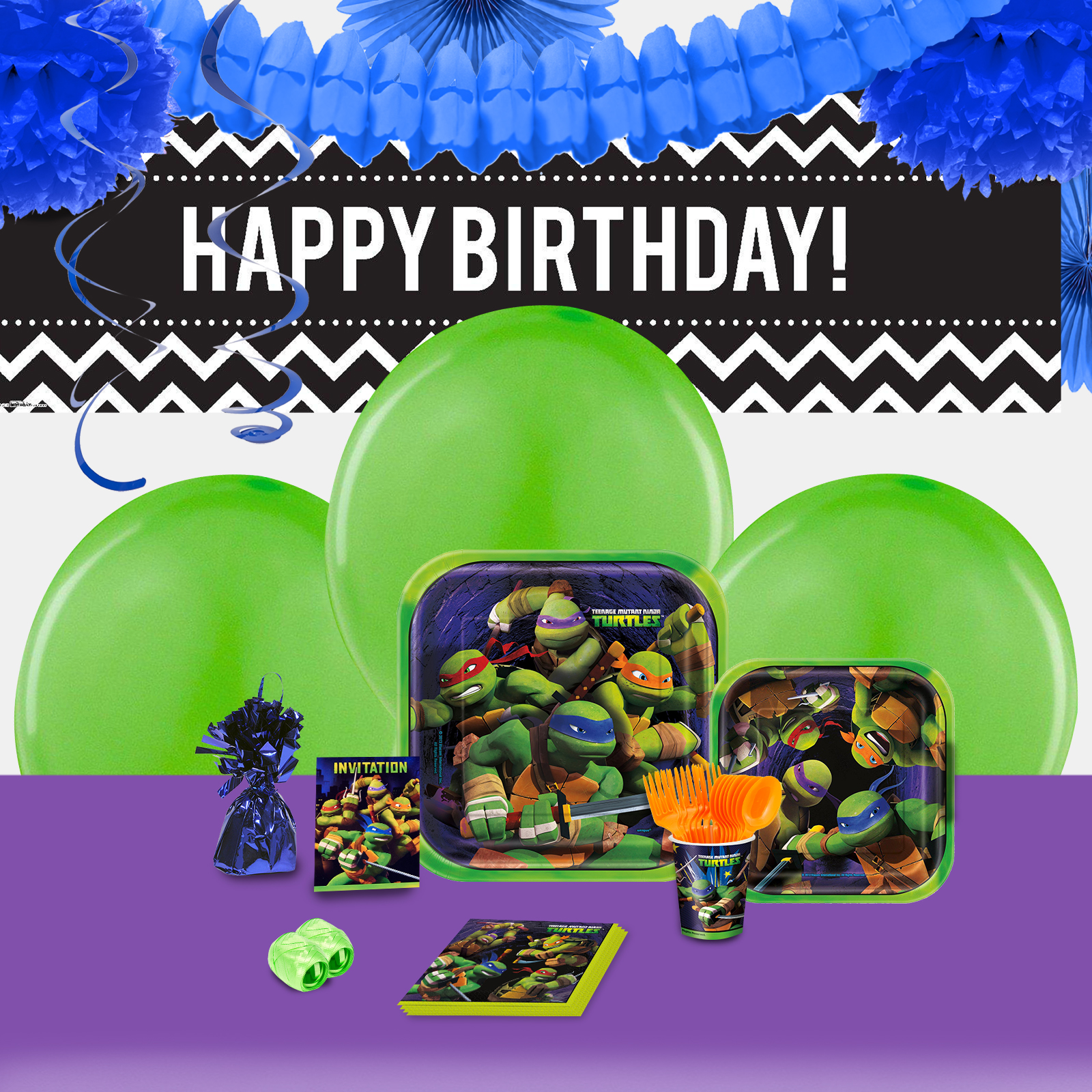 Default Image - Teenage Mutant Ninja Turtles Party in a Box For 16