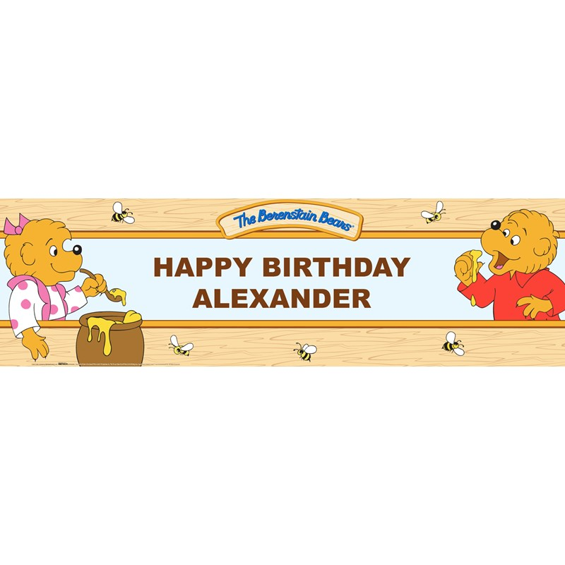 The Berenstain Bears Personalized Vinyl Banner