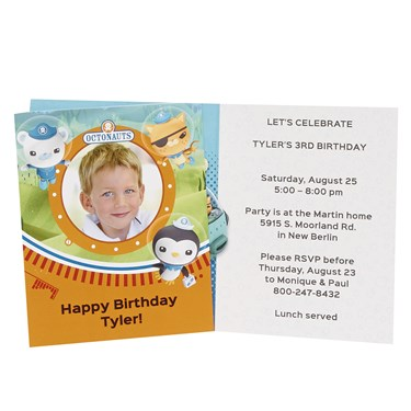 The Octonauts Personalized Invitations (8)