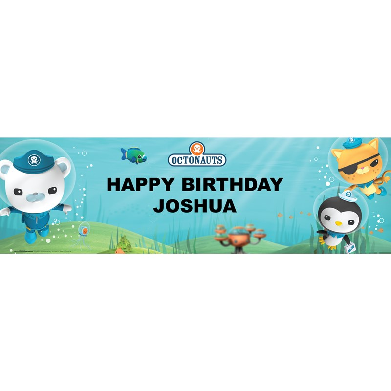 The Octonauts Personalized Vinyl Banner