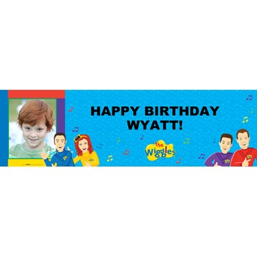 The Wiggles Personalized Photo Vinyl Banner
