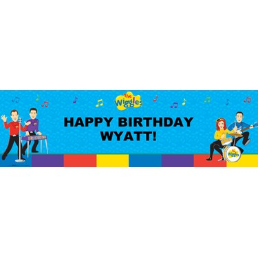 The Wiggles Personalized Vinyl Banner