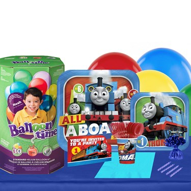 Thomas All Aboard 16 Guest Party Pack - Tableware & Helium Tank