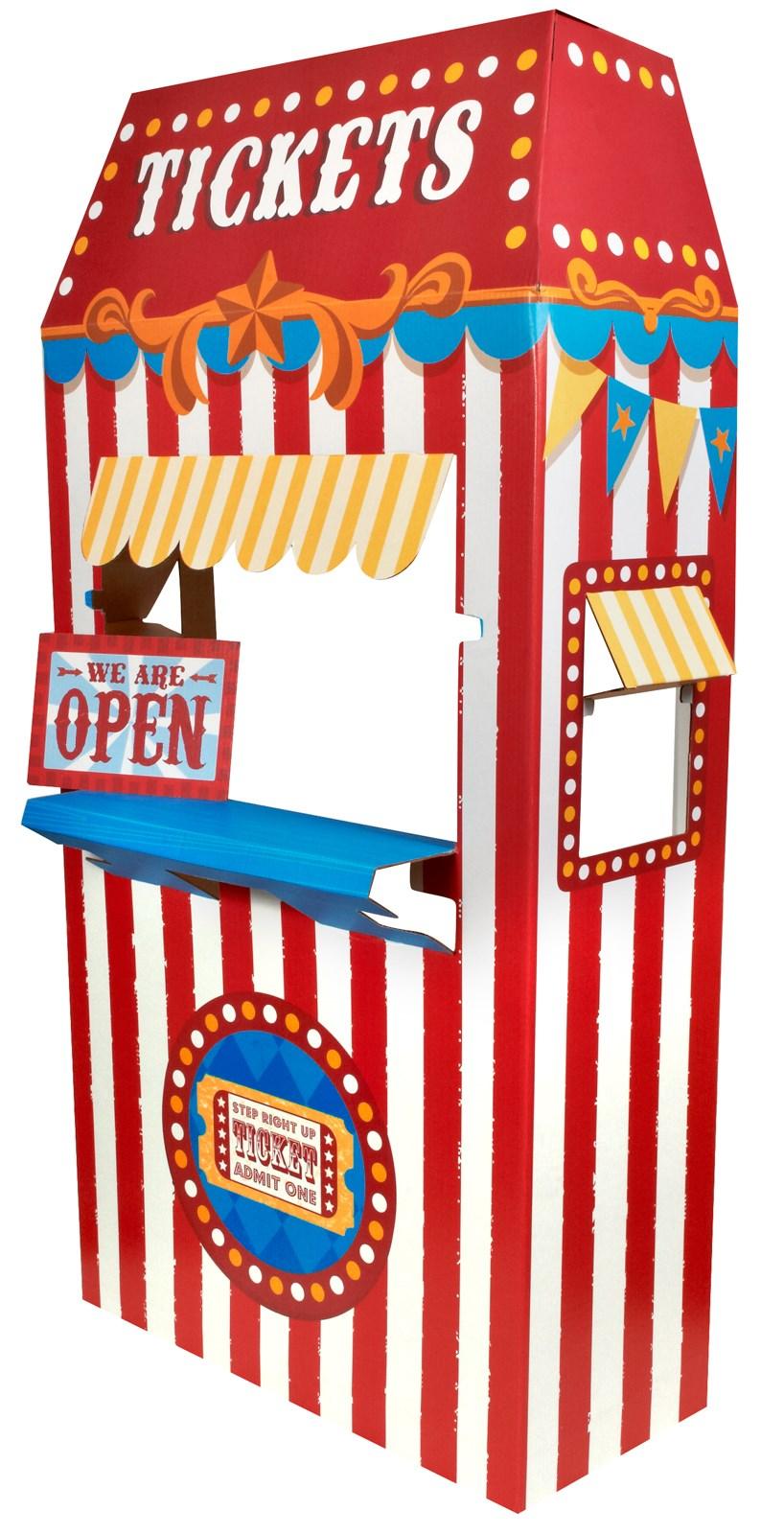 Ticket Booth Cardboard Stand 6 Tall BirthdayExpresscom