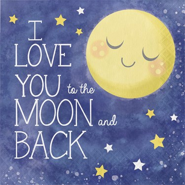 To the Moon & Back Lunch Napkins (20)