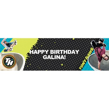 Tony Hawk Skatepark Series Personalized Vinyl Banner