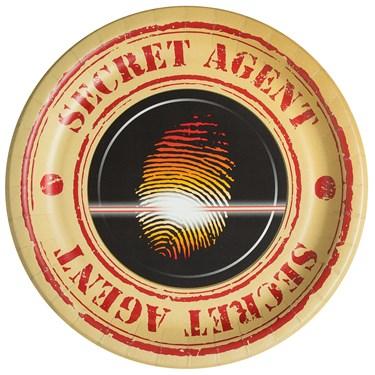 Top Secret Spy  Dinner Plates (8)