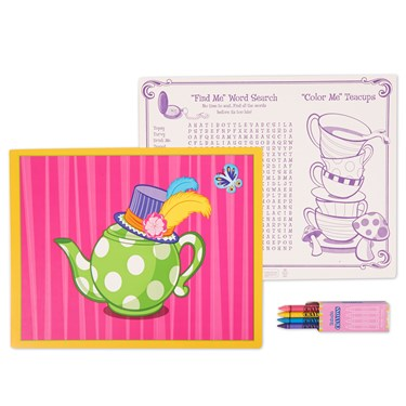 Alice in Wonderland Activity Placemat Kit for 4
