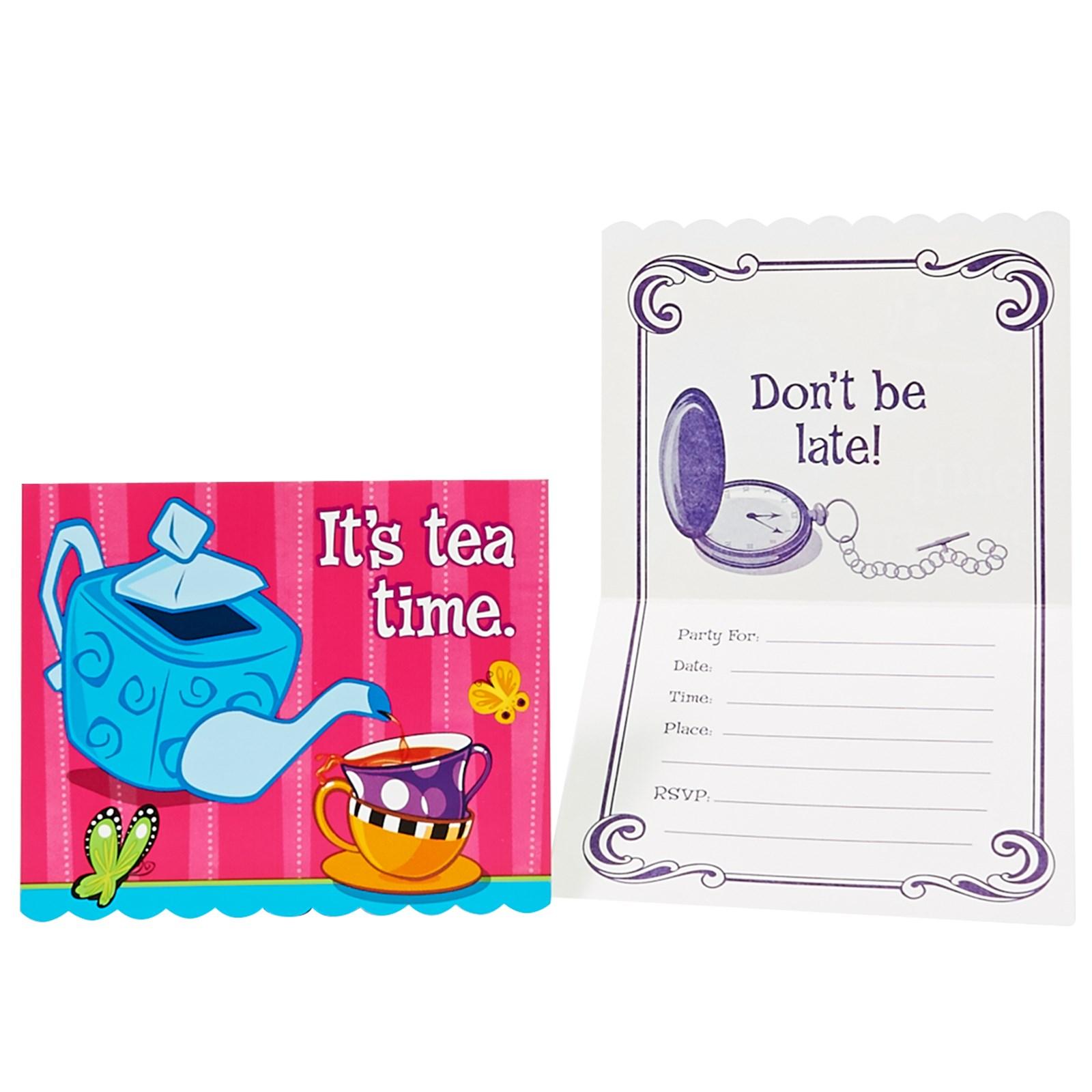 tea party photo invitations