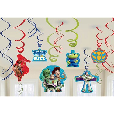 Toy Story Foil Hanging Swirl Decorations