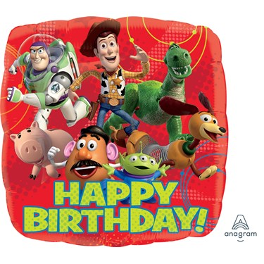 Toy Story Gang Happy Bday Foil Balloon