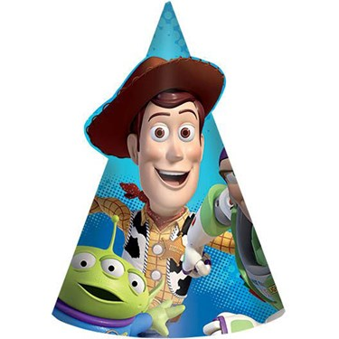 """Toy Story Paper 6"""" Cone Hats (8)"""