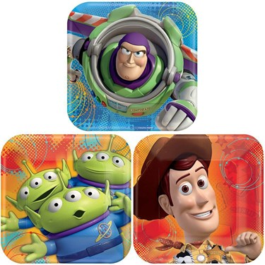 Toy Story Square Dessert Plates (8)