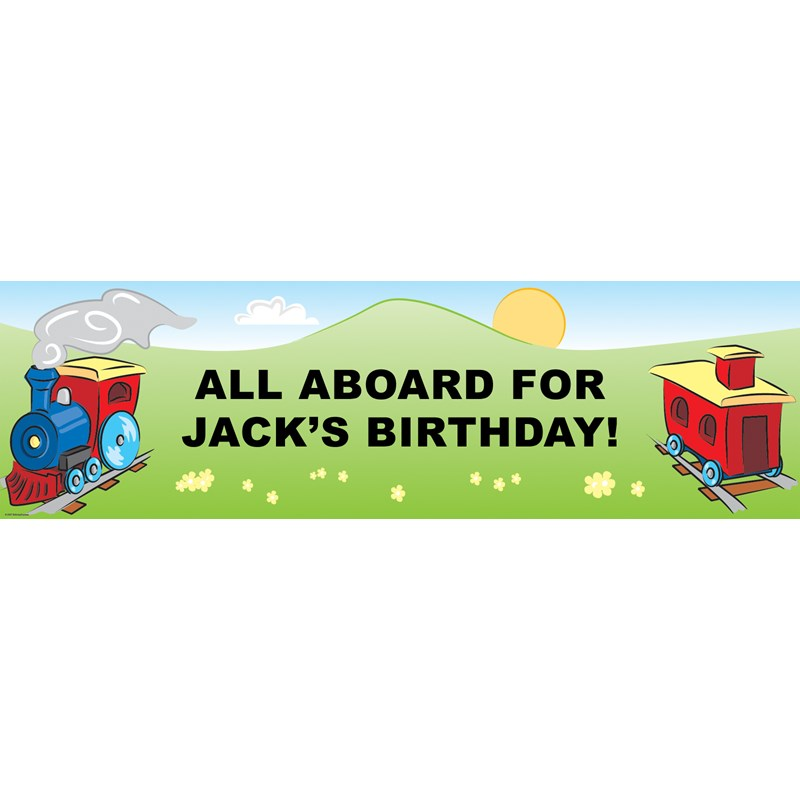 Train Personalized Vinyl Banner