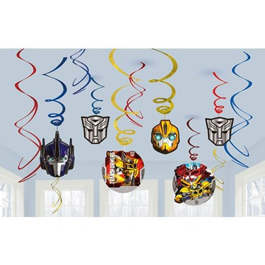 Transformers Foil Swirl Hanging Decoration