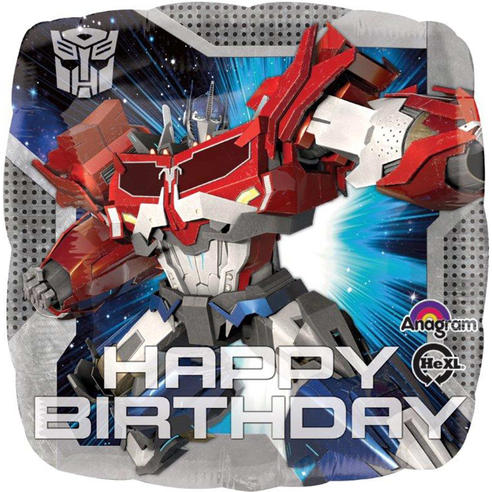 Transformers Happy Birthday Foil Balloon BirthdayExpresscom