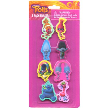 Trolls Shaped Erasers (8)