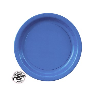 True Blue (Blue) Paper Dessert Plates