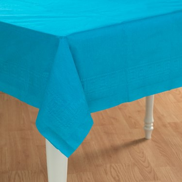 Turquoise Paper Tablecover
