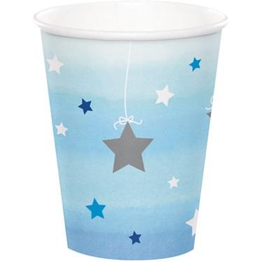 Twinkle Twinkle Little Star Blue 9oz Paper Cups (8)