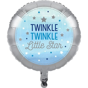 Twinkle Twinkle Little Star Blue Foil Balloon