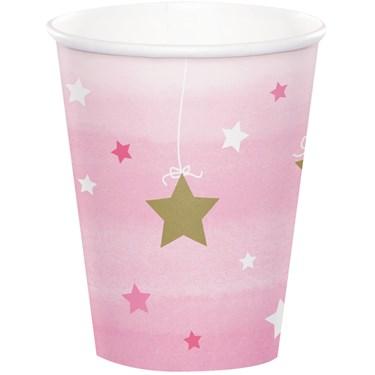 Twinkle Twinkle Little Star Pink 9oz Paper Cups (8)