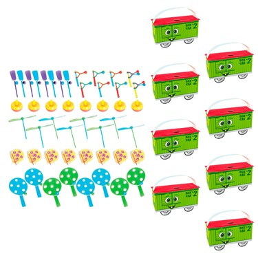 Two-Two Train 2nd Birthday Filled Favor Box Kit  (For 8 Guests)