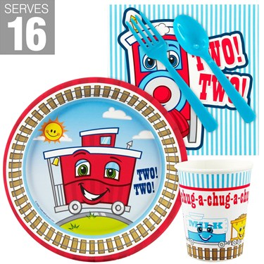 Two-Two Train 2nd Birthday Snack Pack For 16