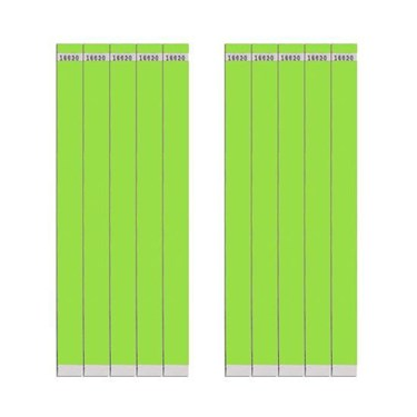 Tyvek Lime 3/4 Wristband (100 Count)