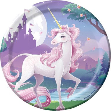 """Unicorn Fantasy 7"""" Cake Plates (8)"""