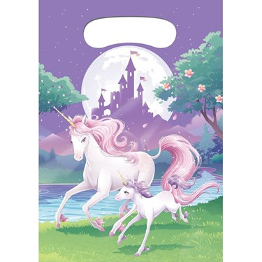 Unicorn Fantasy Favor Loot Bags (8)