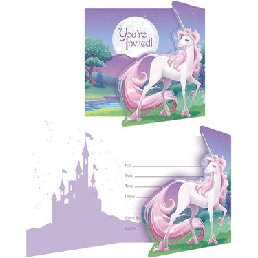Unicorn Fantasy Invitations (8)