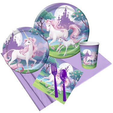 Unicorn Fantasy Party Pack For 8