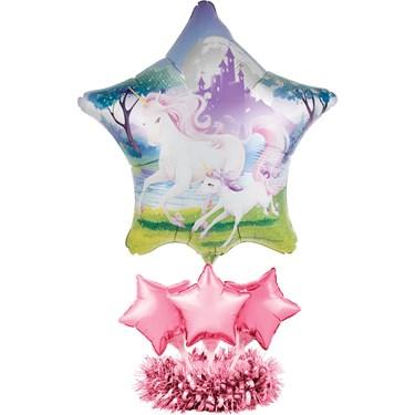 Unicorn Fantsy Balloon Centerpiece