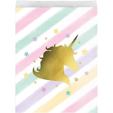 Unicorn Sparkle Paper Treat Bag