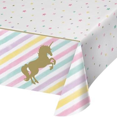 Unicorn Sparkle Plastice Tablecover (1)