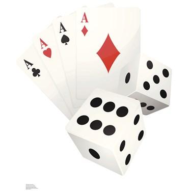Vegas Cards and Dice Standup