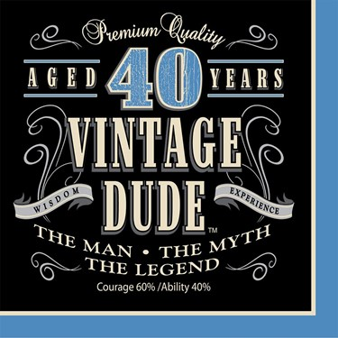 Vintage Dude 40th Luncheon Napkin (16)