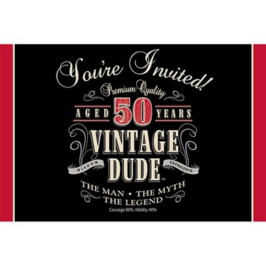 Vintage Dude 50th Invitation (8)