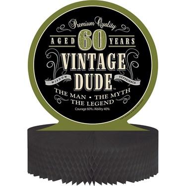 Vintage Dude 60th Honeycomb Centerpiece